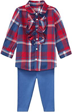 Plaid Top & Leggings Set (Infant)