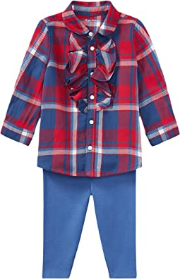 Ralph Lauren Baby - Plaid Top & Leggings Set (Infant)