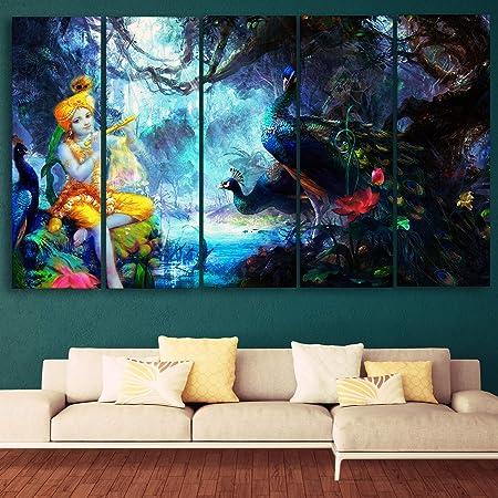 CasperMe Abstract Theme -Wood Painting, Multicolour, Standard