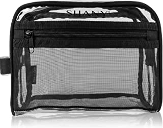 SHANY Cosmetics Shany Clear Toiletry and Makeup Bag with Plastic mesh Pocket Medium nontoxic Travel Organizer with Handle...