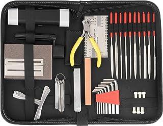 Kit de reparación y mantenimiento de accesorios de guitarra, juego de herramientas de cuidado grande para guitarra, ukelel...