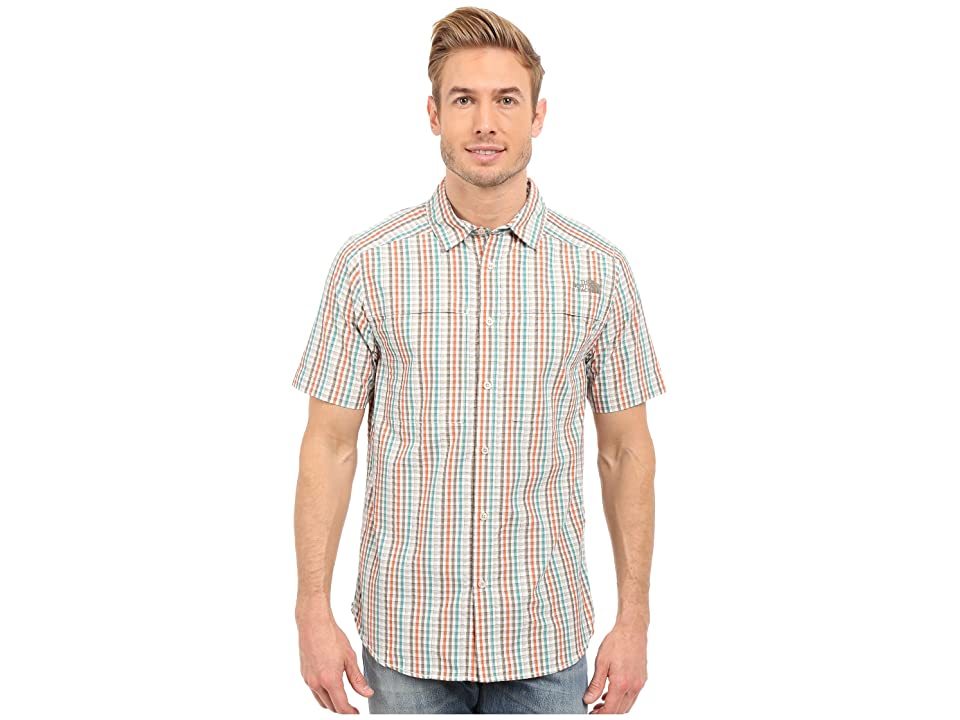 The North Face Short Sleeve Traverse Plaid Shirt (Weimaraner Brown/Dune Beige Plaid (Prior Season)) Men