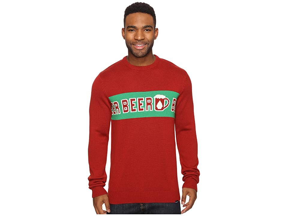 Volcom Strange Brew Ugly Sweater (Blood Red) Men
