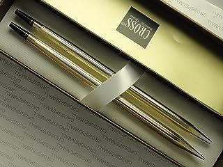 طقم مكتب مصنوع في الولايات المتحدة الأمريكية من الذهب عيار 10 قيراط مع قلم استبدال مملوء عيار 0.9 مم.