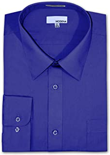 Big and Tall Poplin Dress Shirt - French Blue