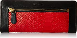 Hidesign Women's Clutch (Red and Black)