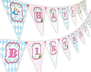 Alice Classic Happy Birthday Banner Pennant