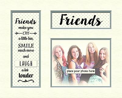 Contemporary Memory Mounts Grey Dotty - 10 x 8 - Friends