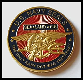 US Navy Seals - Sea, Land, Air Military Colorized Challenge Art Coin