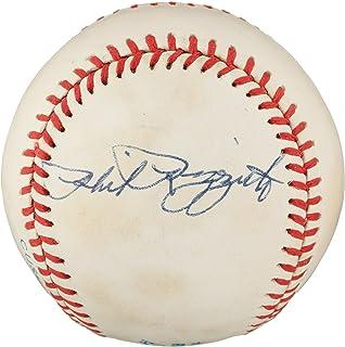 PHIL RIZZUTO SIGNED BOBBY BROWN OAL VINTAGE BASEBALL N.Y. YANKEES PSA PRE-CERT