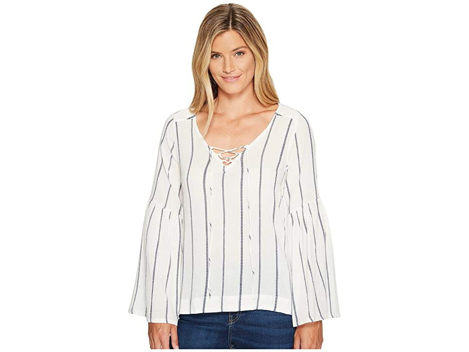 Sanctuary Lila Lace-Up Top (Luna Stripe) Women
