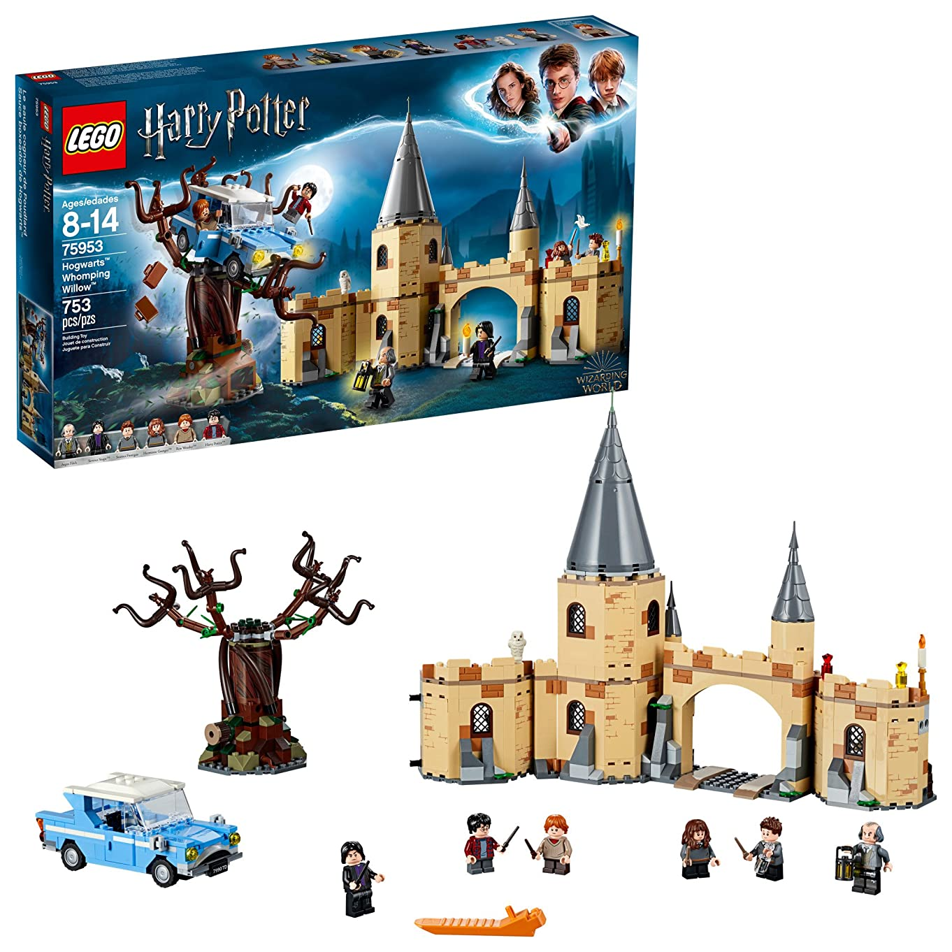 LEGO Harry Potter and The Chamber of Secrets Hogwarts Whomping Willow 75953 Magic Toys Building Kit, Prisoner of Azkaban, Hedwig, Hermoine Granger and Severus Snape (753 Pieces)