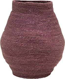 Bloomingville Hand-Woven Seagrass, Lilac Color Basket