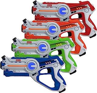 Kidzlane Laser Tag Guns Set of 4 | Lazer Tag Guns for Kids with 4 Team Players | Indoor..