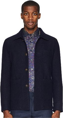 Boiled Wool Short Jacket