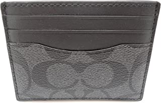 Coach F58110 ID Card Case Signature Charcoal/Black