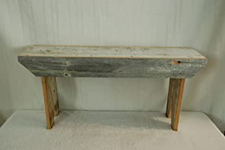 Rustic 3 Foot Barnwood Bench. This Country Bench Seats Varies in Width From 8 - 10