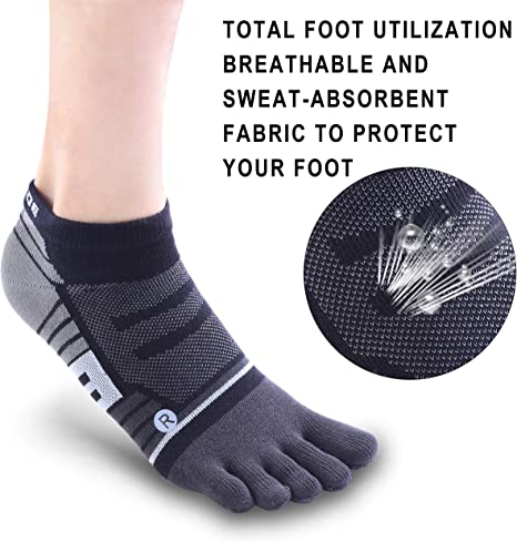 Sports & Outdoors Toe Socks No Show Ankle Low Cut socks Breathable ...