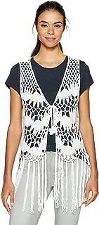 Women's Crochet Clover Vest