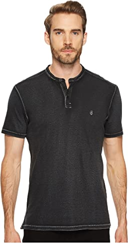 John Varvatos Star U.S.A. - Pigment Rub Short Sleeve Henley