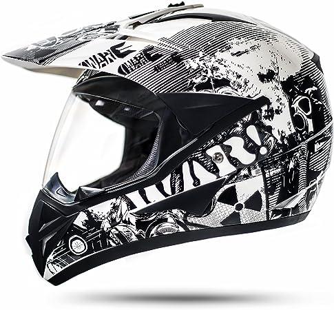 800 Gs War White Cross Helmet With Visor For Quad Atv Enduro Motorcycle Helmet Ece 2205 Size S To L Auto