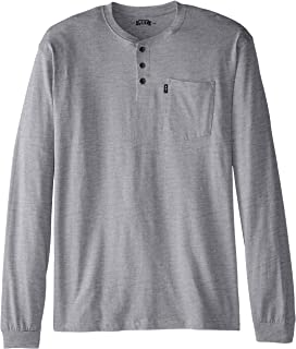 Key Apparel Men's Big & Tall 3-Button Long-Sleeve Henley Pocket T- Shirt