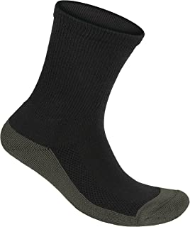 Orthofeet Padded Sole Non-Binding Non-Constrictive Circulation Seam Free Bamboo Socks Charcoal, 3 Pack