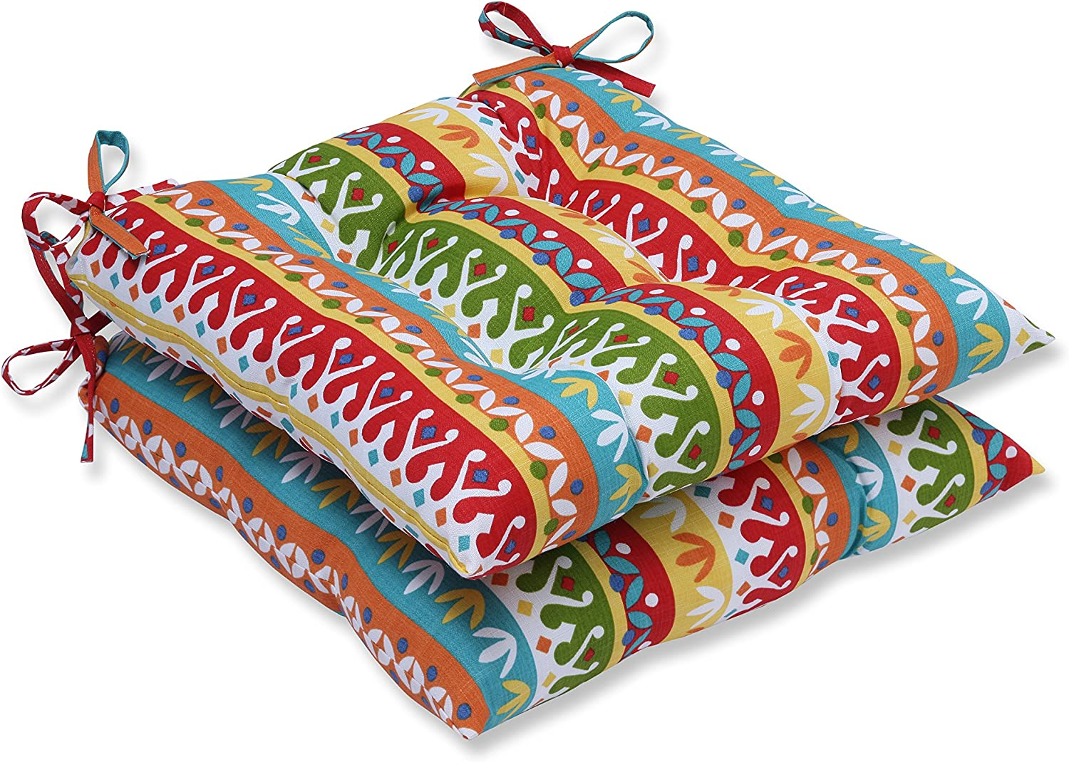 Pillow Perfect Outdoor Indoor Cotrell Garden Wrought Iron Seat Cushion (Set of 2)