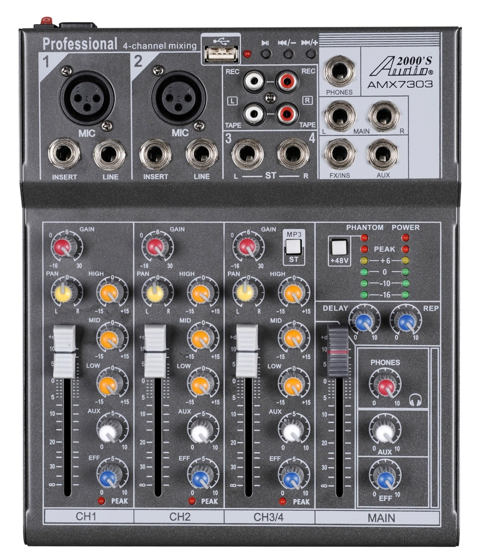 Audio2000S Professional Four Channel Audio Processor