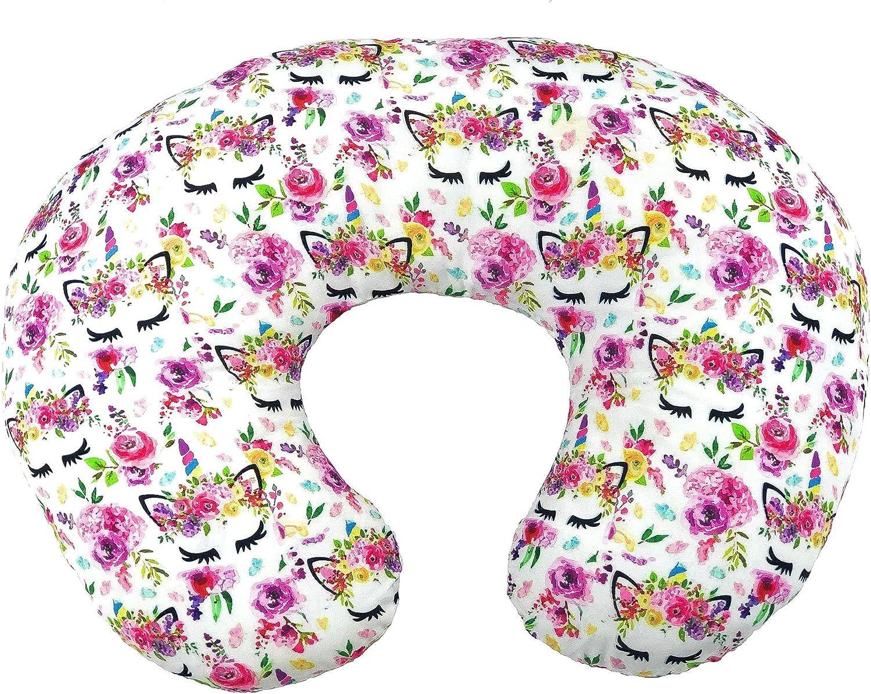 Unicorn Nursing Pillow Cover - Slip Cover - Best for Breastfeeding Moms - Soft Fabric Fits Snug on Infant Nursing Pillow - Great Baby Shower Gift