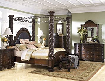 "Amazon.com: Ashley Furniture ""North Shore 11 Piece Canopy Bedroom"