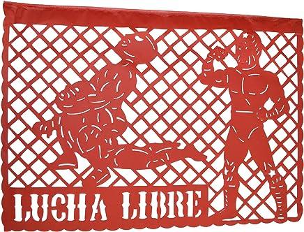 Grahmart WWE-Lucha Libre Happy Birthday Jumbo Letter Banner Decoration (1 Piece),
