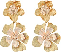 Oscar de la Renta - Bold Flower Drop C Earrings