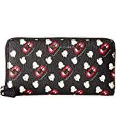 Marc Jacobs - Popcorn Scream Printed Coated Canvas Standard Continental Wallet