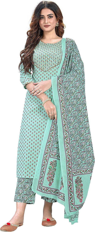 Zabia Fashion Indian Inexpensive Tunic Tops Cotton Set with Attention brand Dupatta fo Kurti