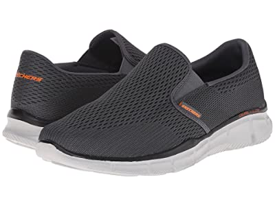 SKECHERS Equalizer Double Play (Charcoal/Orange) Men