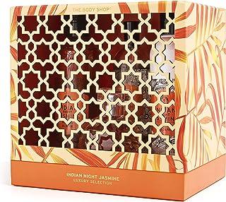 The Body Shop Indian Night Jasmine Set Of 4 Pieces Perfume Eau de Toilette 50ml With Shower Gel 250ml & Fragrance Mist 100...