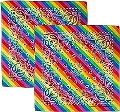 CoverYourHair Gay Pride Accessories - Rainbow Bandana - LGBTQ Bandana - Hippie Bandana - Tie Dye -2Pk