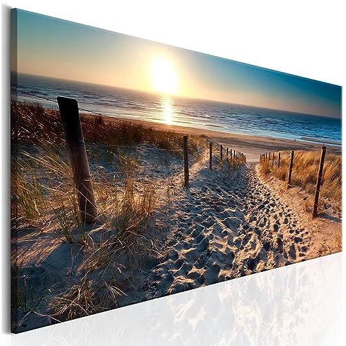 Vlies Leinwand Bild Xxl Druck Wandbild Meer Landschaft Natur Strand c-C-0173-b-a