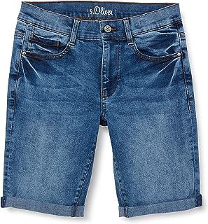s.Oliver Junior 402.10.106.26.180.2064999 Pantalones Cortos de Jean, 56Z6, 164 para Niños