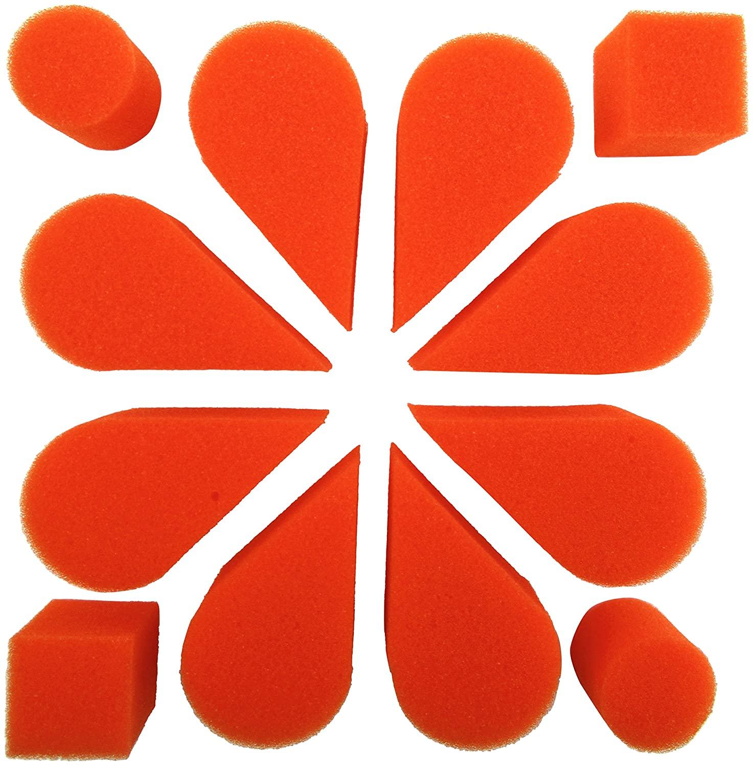 Ruby Red Paint, Inc. SPOPETOR Face Paint with Petal Sponge, 8 Pack, Orange, 2 Piece