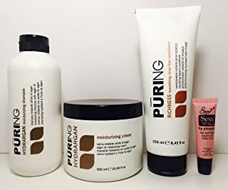 Maxima Puring Hydrargan Kit: Moisturizing Shampoo 11.83 Oz, Mask 16.9 Oz And Richness Nourishing Rinse Free Conditioner 8.45free Staryy Sexy Lip Plumping Gloss Tube 10ml