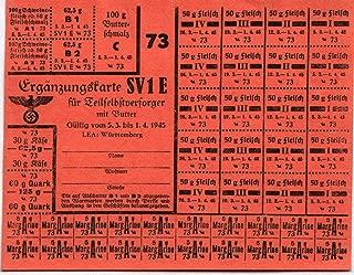 XXX-RARE ORIGINAL WW2-DATED NAZI RATION STAMP SHEET! FULL SHEET! $150 RETAIL
