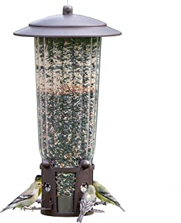 Perky-Pet 334-1SR Squirrel-Be-Gone Max Bird Feeder with Flexports – 4 Lb