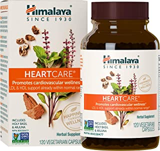 Himalaya HeartCare, Cholesterol and Blood Pressure Supplements for Cardiovascular Wellness and Heart Health, 720mg, 120 Ca...