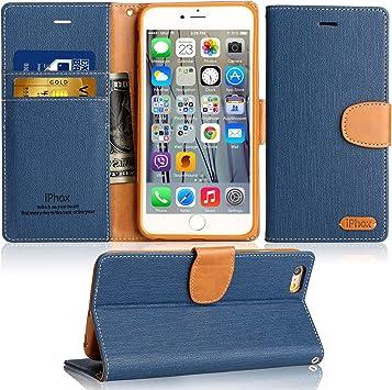 IPHOX Étui Compatible avec iPhone Se 2016 (Pas pour 2020) / iPhone 5S / iPhone 5, étui Portefeuille en Cuir Premium Folio pour Apple iPhone Se 2016 / ...