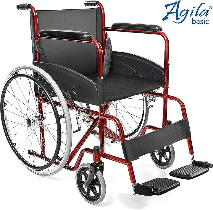 Sedia a rotelle pieghevole leggera ad autospinta per disabili ed anziani aiesi®  agila basic