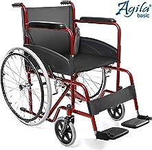 AIESI® Rollstuhl faltbar leichter selbstfahrender für ältere und behinderte menschen AGILA BASIC # Feste armlehnen und fuß...