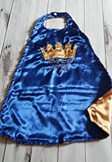 Baby Boy Smash Cake First Birthday Satin Prince King Crown Cape Royal Blue & Gold