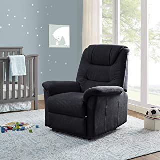 Classic Brands Lennox Popstitch Upholstered Recliner Chair, Charcoal